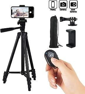 HITSLAM 3WAY 三脚 スタンド三脚・ビデオカメラ・スマホ・アイフォン・カメラ・スタンド・カメラスタンド, 超軽量アルミホルダー・一眼レフ・アイフォン・iPhone, 約40〜131cm4・段階収縮・360回転, Bluetooth・収納袋付き・水準器付き, 撮影・記念撮影・動画・ユーチューブ/黒
