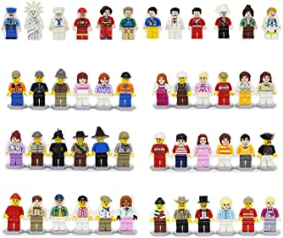 48pcs Characters Little People Figures - Miniature Figurines for Kids Sets - Mini Figures Little People Family - Building Block Brick Party Favors