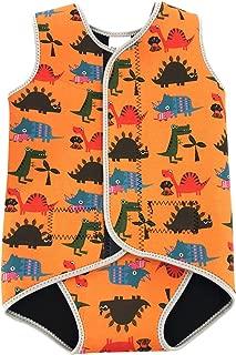 SYLPHID Toddler Swimsuit Baby Swimwear Infant Warm Neoprene Wetsuit Boys Girls Swim Vest UPF 50+ Orange Dinosaurs