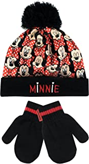 Disney Minnie Mouse Girls' Minnie Mouse Hat and Gloves Set