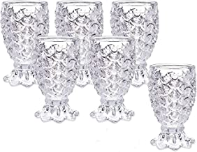 King International 100% Crystal Clear Pineapple Shot Glasses   Set of 6 Pieces,60 ml   Whiskey, Beverage, Beer Glasses   Whisky, Large 2 oz Premium Lead-Free Crystal Glass Tasting Cups, Luxury Gift