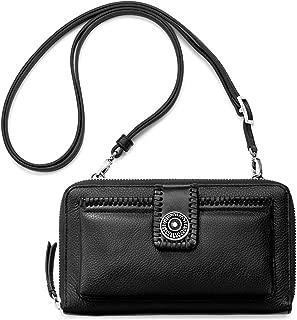 Brighton Tunisia Large Black Leather Tech Wallet with Detachable Strap