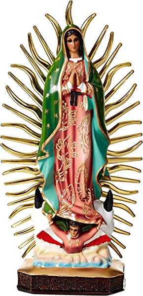Virgin Mary Statue Handpainted By Mexican Artisans