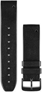 Garmin 010-12500-02 Quickfit 22 Watch Band - Black Perforated Leather - Accessory Band for Fenix 5 Plus/Fenix 5