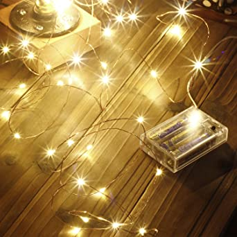 Led String Lights 100 Leds Decorative Fairy Battery Powered String Lights Copper Wire Light For Bedroom Wedding 33ft 10m Warm White Amazon Co Uk Lighting