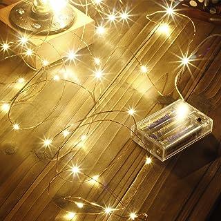 Led String Lights 100 LEDs Decorative Fairy Battery Powered String Lights, Copper Wire Light for Bedroom,Wedding(33ft/10m ...