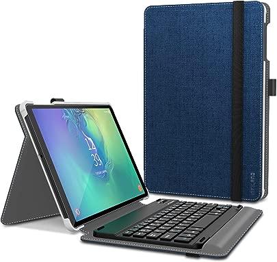 Infiland Tastatur H lle f r Samsung Galaxy Tab 10 1 2019  Ultrad nn leicht St nder Schutzh lle mit magnetisch abnehmbar Tastatur f r Galaxy Tab 2019  T510 T515  10 1 QWERTZ Tastatur Dunkleblau