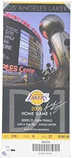 Kobe Bryant Los Angeles Lakers Autographed Oversized Canvas Ticket from 2009 NBA Finals - Panini Authentic - Fanatics Authentic Certified