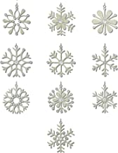 ShalinIndia Handmade Christmas Snowflakes Iron and Wool 10 Different Light Weight Hanging Christmas Tree Ornaments 4 Inches