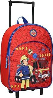 Sam Bombero Mochila infantil con ruedas, diseño de coche de bomberos, color rojo