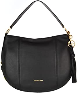 Michael Kors 30S9GOKH7L-001 Brooke Large Pebbled Leather Shoulder Bag, Black