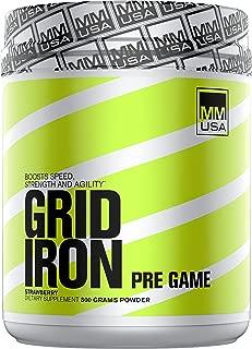 MMUSA Gridiron Pre-Game Diet Supplement Powder, Strawberry, 800 Gram