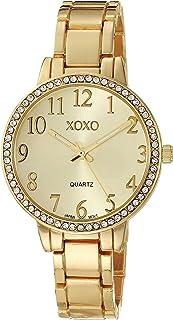 ساعة اكس او اكس او كوارتز للنساء بسوار من المعدن، ذهبي، 15 موديل XO5988AZ)