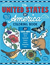 The United States of America Coloring Book: Fifty State Maps with Capitals and Symbols like Motto, Bird, Mammal, Flower, Insect, Butterfly or Fruit PDF