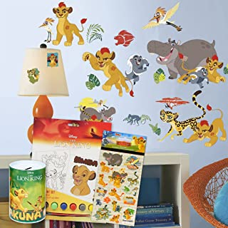 RoomMates Disney Lion Guard Wall Decals Bundle ~ 30 Pc Lion Guard Room Decor Set with Lion King Savings Tin and Coloring P...