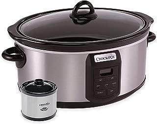 Crock-Pot SCCPVS703-S 7-Quart Programmable Slow Cooker with Little Dipper Warmer, 6
