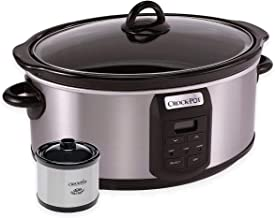 Crock-Pot 7-Quart Programmable Slow Cooker with Little Dipper Warmer, Stainless Steel
