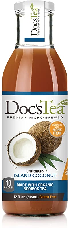 Doc S Tea Flavored Tea Island Coconut 12 Fluid Ounce Pack Of 12