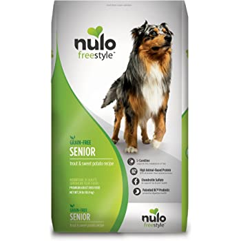 Nulo Senior Grain Free Dog Food With Glucosamine And Chondroitin, Trout And Sweet Potato Recipe - 4.5, 11, Or 24 Lb Bag