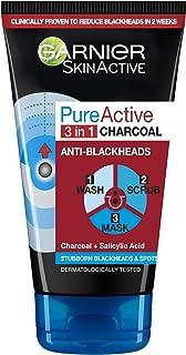 Garnier Skin Active Pure Active Intensive 3-in-1 Charcoal Anti-Blackhead, 150 ml