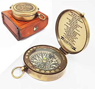 Brass Nautical -Beautiful Brass Compass in Box 1920 Dollodn London Compass
