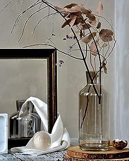 Cyl Home Vases Bottle Shape Optic Bronze Color Glass Flower Arrangement Table Centerpieces Modern Contemporary Dining Living Room Art Decor Accent Gift Vase,13.8'' H x 4.7'' D