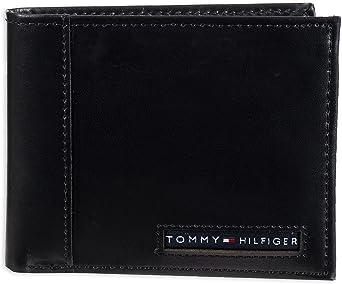 Tommy Hilfiger Portefeuille pour homme 100 % cuir avec blocage RFID - Fermeture éclair - Taille unique
