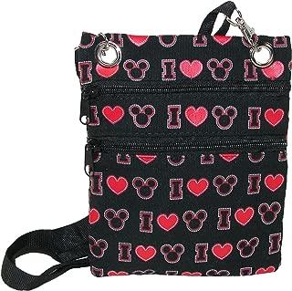 I Love Mickey Crossbody Passport Bag, 6 x 8 Inches