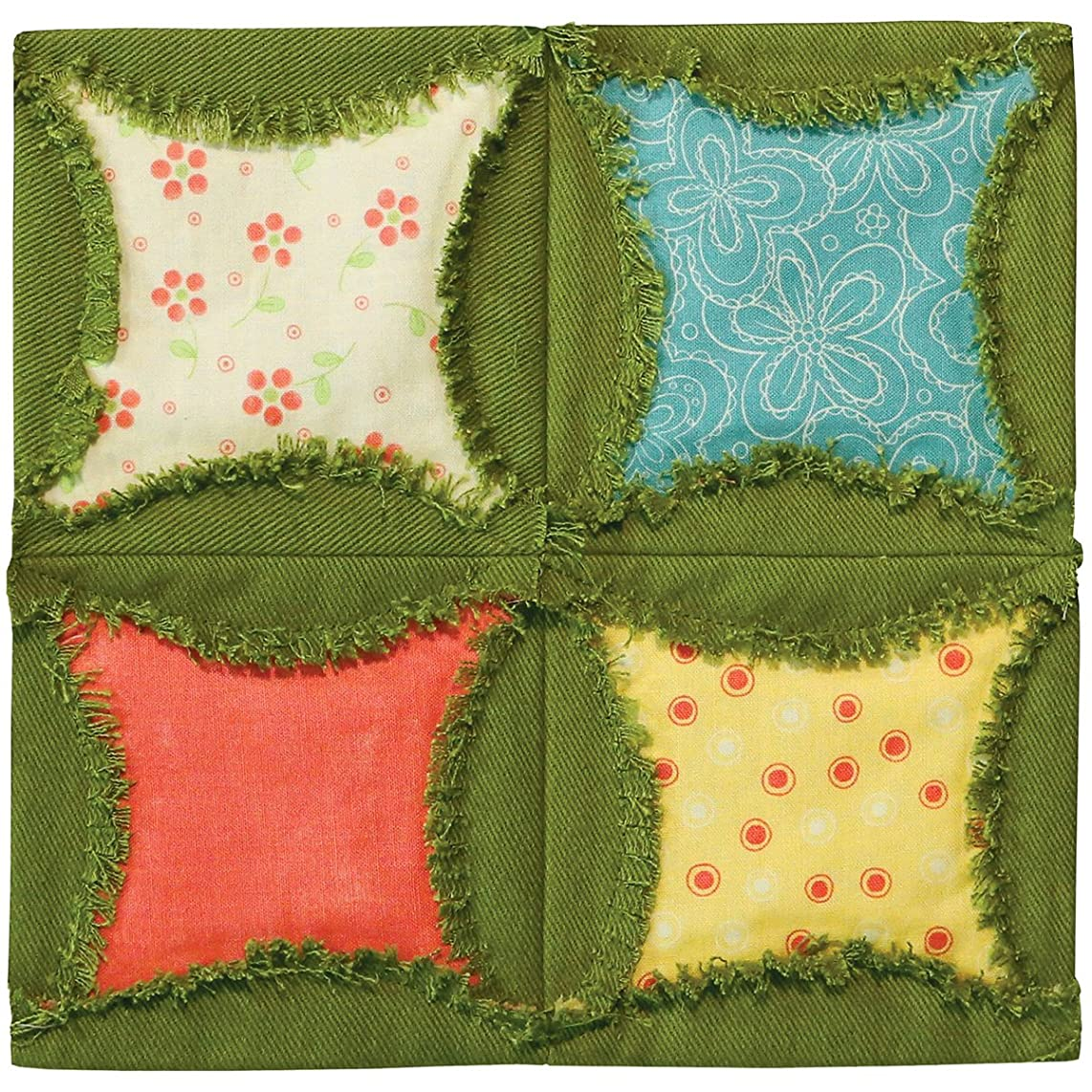 AccuQuilt GO! Fabric Cutting Dies, 6.5-Inch, Rag Circle by Heather Banks