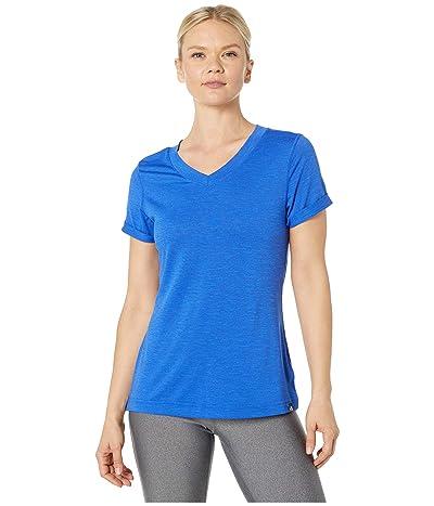 The North Face HyperLayer FD Short Sleeve V-Neck (TNF Blue Heather) Women