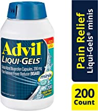Advil Liqui-Gels Minis, 200 Count, Ibuprofen 200mg, Pain Reliever/Fever Reducer Liquid Filled Capsule, Fast Pain Relief for Headaches, Back Pain, and Muscle Pain, Easy to Swallow