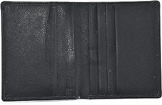 محفظة بطاقات من ماجلان للرجال - مصنوع من الجلد - لون أسود