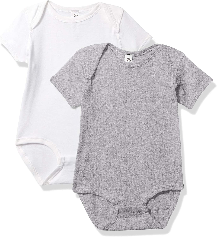 Marky G Apparel Baby Rib latest San Diego Mall 12 White Months Bodysuit Heather