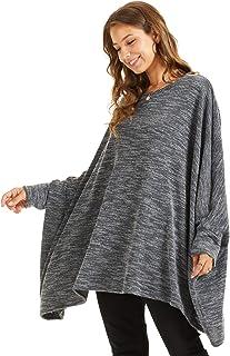 SONJA BETRO Women's Knit Cape Oversize Tunic Top Plus Size