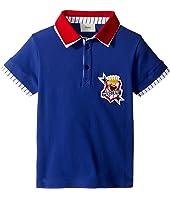 Fendi Kids - Short Sleeve Polo T-Shirt w/ Football Design On Front (Toddler)