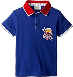 Short Sleeve Polo T-Shirt w/ Football Design On Front (Toddler)