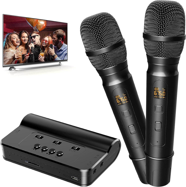 Portable Wireless Microphone Karaoke Mixer Max 81% OFF Joyye System Dua Set Virginia Beach Mall