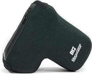 MegaGear MG1499 Sony Alpha A6400 A6500 (16-70 18-135 mm) Estuche Ever Ready Funda de cuero de pronto uso con correa - Negro