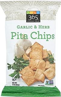 365 Everyday Value, Pita Chips, Garlic & Herb, 9 oz