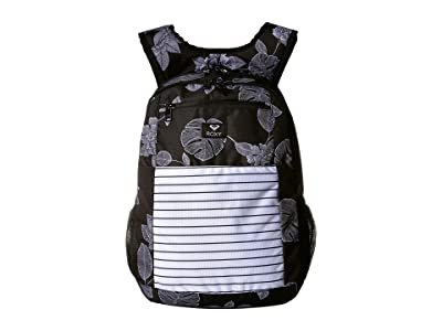 Roxy Here You Are Backpack (Anthracite Flower of Love) Backpack Bags