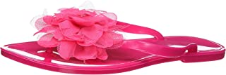 Nufoot Raspberry Flip Flops with Pink Blossom, Large, 2 Count