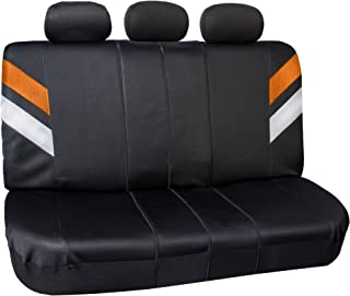 FH Group FB087ORANGE115 Premium Neoprene Seat Cover Water Resistant//Airbag//Split Bench Compatible Cushion