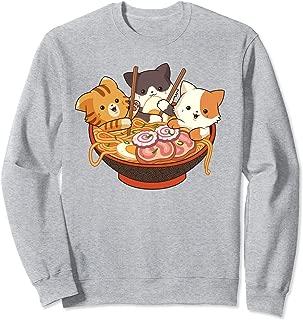 Kawaii Cute Anime Cats Otaku Japanese Ramen Noodles Gift Sweatshirt