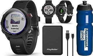 Garmin Forerunner 245 Music (Black) Running GPS Watch Runners Bundle   +Garmin Water Bottle, HD Screen Protectors & PlayBe...