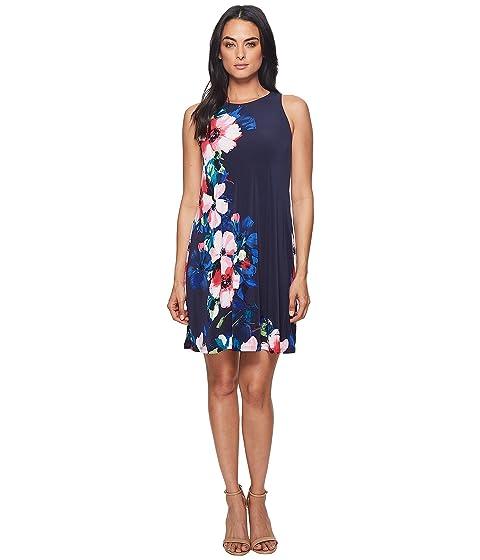 de mate Jersey LAUREN floral Faro Rosa Windell Azul Lauren Ralph Suzan Vestido Múltiples marino qqYRwF0