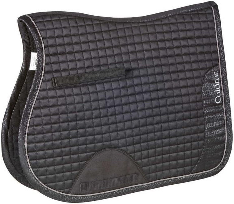 Caldene Crocodile GP Saddle Pad (UK Size  Full) (Black)