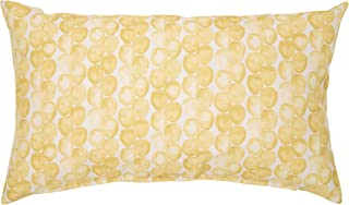 Algod/ón-Poli/éster Rioma Caterpillar Coj/ín Amarillo 50x30x4 cm