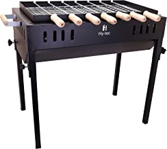 H Hy-tec (Device) HYBB-06 Terrace Garden Picnic Barbecue with 7 Skewers, 1 Grill & 2 Packet of Charcoal (Structure Black)