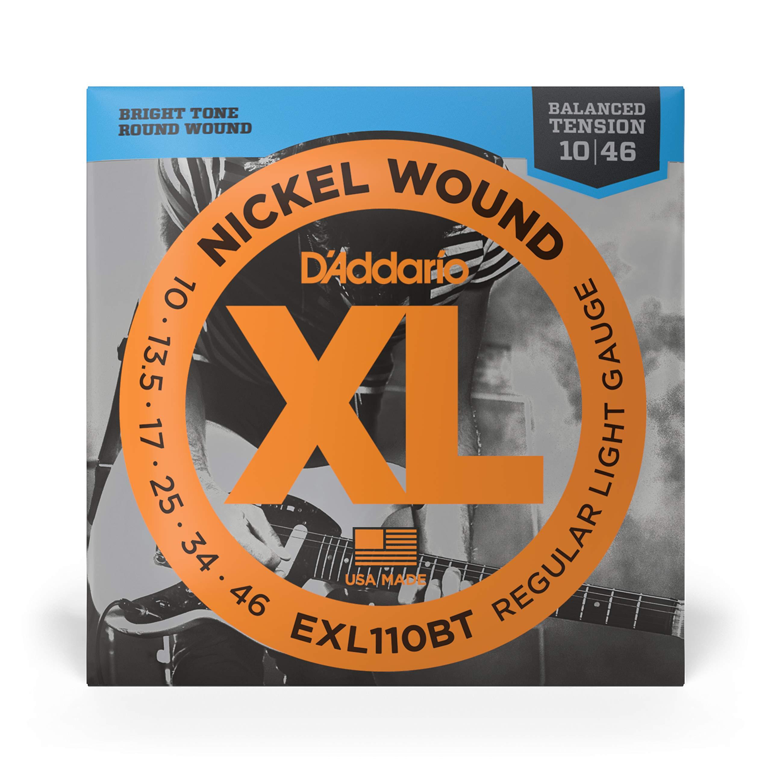 DAddario EXL110BT - Cuerdas con Entorchado En Níquel para Guitarra Eléctrica, Regular Blandas con Tensión Equilibrada, 10-46, Plateado: Amazon.es: Instrumentos musicales