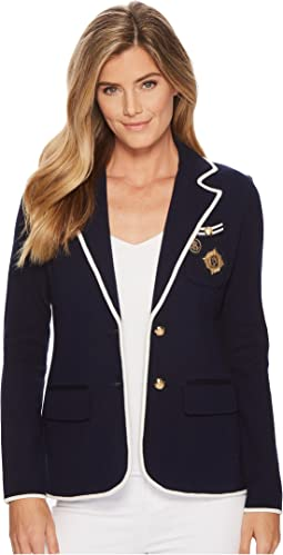 LAUREN Ralph Lauren Crest Cotton-Blend Blazer